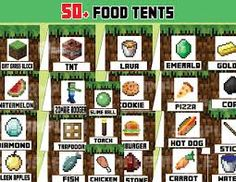 picture regarding Minecraft Free Printable Food Labels referred to as 7 Most straightforward Minecraft foodstuff labels visuals in just 2015 Mine craft