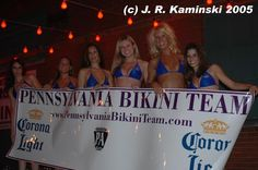 PA Bikini Team at Matrix Night Club in 2005 for Corona Light Promotion