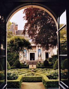 The green gardens from the Museum Van Loon in Amsterdam, Netherlands.