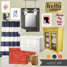 Interesting color palette option - especially navy and yellow