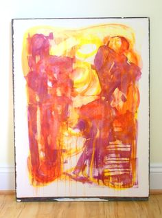 Abstract Watercolor For The Yellow Bedroom