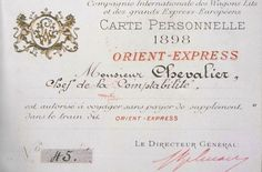 Ticket for the Orient Express