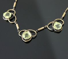 Victorian Citrine Necklace Gold Filled by nanascottagehouse