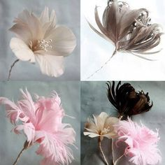 Learn to make three kinds of feather flowers with this easy to follow tutorial.