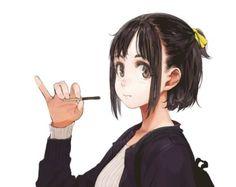 [일러스트] 뭔가 먹는 여자를 잘그리는 일러스트레이터 じゅん(쥰)님 일러스트 모음 : 네이버 블로그 Girls Characters, Anime Characters, Character Concept, Character Art, Waifu Material, Cute Anime Pics, Character Design References, Whimsical Art, Anime Comics