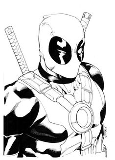 Deadpool Coloring Page | Superheroes Coloring Pages | Pinterest ...