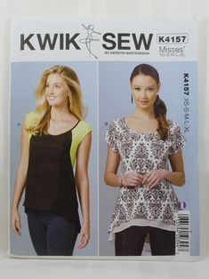 Kwik Sew 4157, Misses' Tops Sewing Pattern, Pullover Tops Pattern, Misses' Patterns, Misses' Size XS, S, M, L, Xl, New and Uncut by Allyssecondattic on Etsy