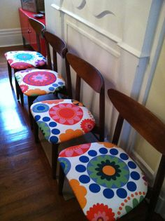 Midcentury Chairs Reinvented by ArtifactPittsburgh on Etsy, $400.00