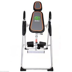 """Goplus New Foldable Premium Gravity Inversion Table Back Therapy Fitness Reflexology. Weight: 50.7 lbs. User weight: 300 lbs. max. Adjustable user heights: 4'10"""" to 6' 6""""."""