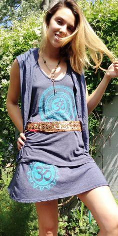 Lots of clothes with om  and mandala symbols, Ganesha, Buddha, yantras, etc.