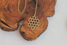 Magen David Necklace Gold Necklace Star of David by TzufitMoshel