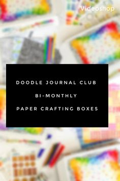 Join the Doodle Journal club and receive exclusive paper, stickers, washi tape, and fun paper crafting tools every other month! Join us today! Bullet Journal Writing, Bullet Journals, Art Journals, Journal Cards, Junk Journal, Journal Ideas, Crafting Tools, Paper Crafting, Diy Home Crafts