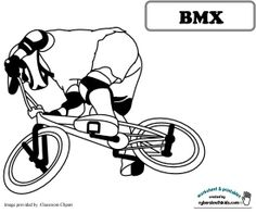 bmx coloring pages | bmx - Coloring sheet and printable