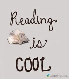 I read now reading is cool right up there with bow ties & fez
