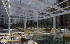 نمونه کارهای سقف شیشه ای توسط شرکت جام تراس | جام تراس | jamterrace