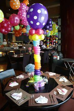 Lalaloopsy balloon centerpiece