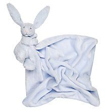 Buy Jellycat Bashful Bunny Blankie, Blue Online at johnlewis.com