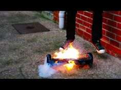 Hoverboard Catches Fire Halfway Through Unboxing Video; FIRE EXPLODING HOVERBOARD CAUGHT ON CAMERA