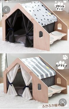 Animal Room, Animal House, Puppy Room, Cat House Diy, Dog House Plans, Cool Dog Houses, Dog Furniture, Dog Rooms, Cat Room