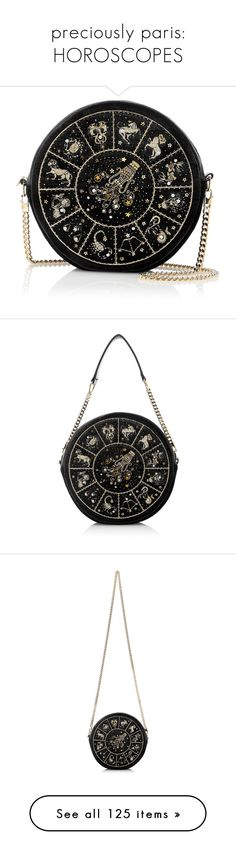 """preciously paris: HOROSCOPES"" by xandra-black ❤ liked on Polyvore featuring bags, handbags, clutches, round purse, chain handle handbags, over the shoulder handbags, long handbags, round handbags, velvet handbag and over the shoulder purse"