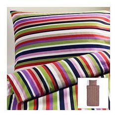 DVALA Bettwäscheset, 2-teilig, bunt, gestreift Bettbezug/Länge: 200 cm Bettbezug/Breite: 150 cm Kopfkissen/Länge: 50 cm
