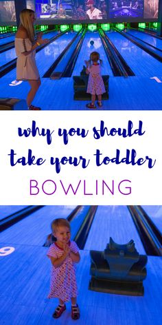 Why you should take your toddler bowling! Don't be scared to take your younger kids to the lanes - it is a blast! A great family bonding opportunity or indoor rainy day fun! #EatBowlPlay #Sponsored