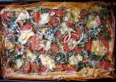 simple tomato phyllo tart