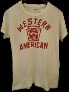 Western American little league baseball tee Vintage Band Tees, Vintage Tee Shirts, Hardcore, Basic Wear, Baseball Tee Shirts, Hipster Design, Tee Design, Apparel Design, Printed Tees