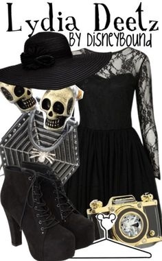 This outfit has skulls, a hate, is black, and the dress is amazing... it would be a crime for me not to like it