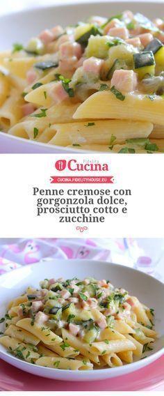 Penne cremose con #gorgonzola dolce, prosciutto cotto e #zucchine della nostra utente Giovanna. Unisciti alla nostra Community ed invia le tue ricette!
