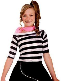 Girl's Sock Hop Top | Girls Costumes 50's Costumes Halloween Costumes