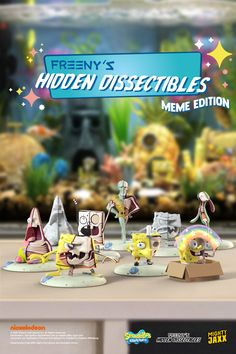 The fun new collection arrives on 21 Oct, 9am EST! Freeny's Hidden Dissectibles: SpongeBob SquarePants (Meme Edition) will be available in a tray of 12 for $155.88, with free shipping! A single box, $12.99! 🍍 Ships everywhere 😛