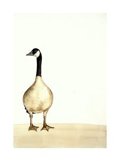 Original painting. Watercolor. Goose painting. by ArtStudioZoe, €18.00