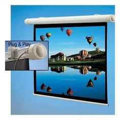"136128 Salara Plug & Play Front Projection Screen - 52 x 92"" by Draper. $3047.99. 136128 An elliptical extruded alumninum case houses this conventional electric screen, which features a motor-in-roller. It can be quickly and easily installed to wall brackets. No wiring necessary: this screen comes with a 10' power cord and built-in IR receiver and remote. It can be quickly and easily installed to wall brackets. AT Grey ATGrey offers the acoustical properties of our popular AT1..."