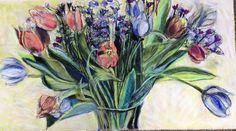 Mother's Day Bouquet, pastel on paper, 2015, Stephanie Rose Bird