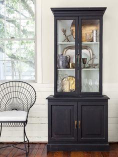 An antique french inspired cabinet