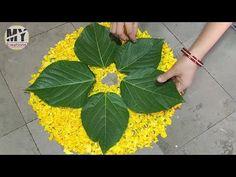 Design Discover Kalash Decoration at Home Simple Rangoli Designs Images, Rangoli Designs Flower, Colorful Rangoli Designs, Rangoli Designs Diwali, Flower Rangoli, Beautiful Rangoli Designs, Easy Rangoli, Diwali Decorations At Home, Home Wedding Decorations