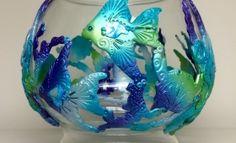 Fantasy Fishbowl Polymer Clay Aquatic Elegance