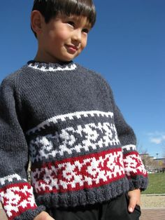 Free+Knitting+Pattern+-+Toddler+&+Children's+Clothes:+Ryuu-ko+Dragon+Child+Pullover
