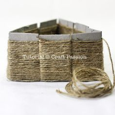 Easy Basket weaving (noncorrigated cardboard as the base) If I'm really board some rainy day I might make this w/ scrap yarn.