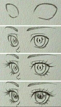 Manga Drawing Tips Design to draw - Draw Pattern - Eyes~ Art Drawings Simple, Sketches, Anime Eye Drawing, Anime Drawings Sketches, Drawings, Anime Eyes, Eye Drawing Tutorials, Anime Drawings Tutorials, Anime Drawings