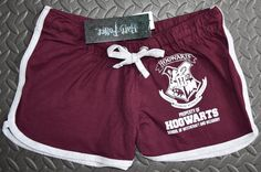 PRIMARK HOGWARTS SHORTS HARRY POTTER BURGUNDY CREST NEW 6-20 £12.99