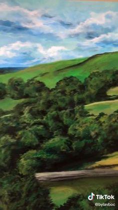 Canvas Painting Tutorials, Diy Canvas Art, Oil Painting Gallery, Bob Ross Paintings, Aesthetic Painting, Sky Art, Cool Art Drawings, Art Techniques, Art Tutorials
