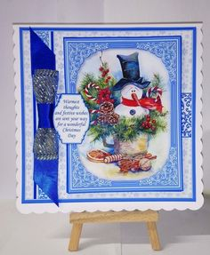 SNOWMAN IN CUP Christmas 7.8 Quick Layer Card or Decoupage Mini Kit - CUP893798_68 | Craftsuprint