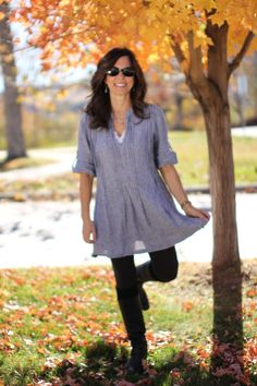 American Made — Last Fall Back in the Fall last year, when I. Make Blog, Love Clothing, American Made, My Outfit, Autumn Winter Fashion, Summer Outfits, How To Make, How To Wear, Tunic Tops