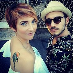#fashionbrothers #backtattoo  #redhair #shorthair #copper