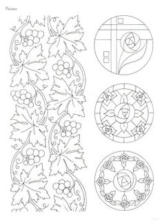 """Photo from album """"Art Nouveau Designs"""" on Yandex. Motifs Art Nouveau, Design Art Nouveau, Art Nouveau Pattern, Border Pattern, Pattern Design, Colouring Pages, Coloring Books, Embroidery Patterns, Hand Embroidery"""