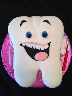Dental hygienist graduation cake.