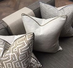 Neutral curtains, neutral pillows, scatter cushions, cushions on sofa, floo Upholstery Cushions, Cushion Fabric, Cushions On Sofa, Bed Pillows, Scatter Cushions, Decorative Cushions, Floor Pillows Kids, Boho, Neutral Pillows