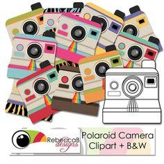 Polaroid Camera Clip Art